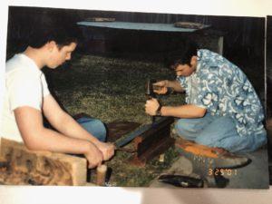 Young Nate Working - Nate the Blademaker | Natetheblademaker.com