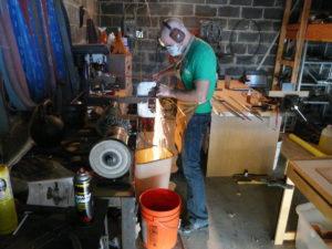 Nate working in his shop - Nate the Blademaker | NatetheBlademaker.com